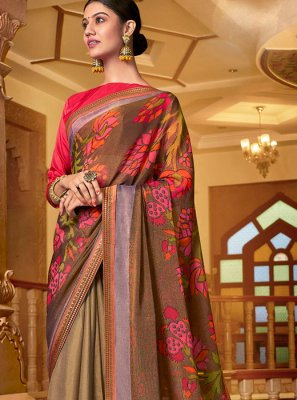 Printed Party Designer Traditional Saree