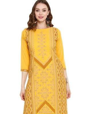 Printed Pure Crepe Party Wear Kurti