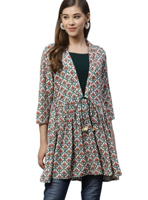 Printed Rayon Multi Colour Kurta