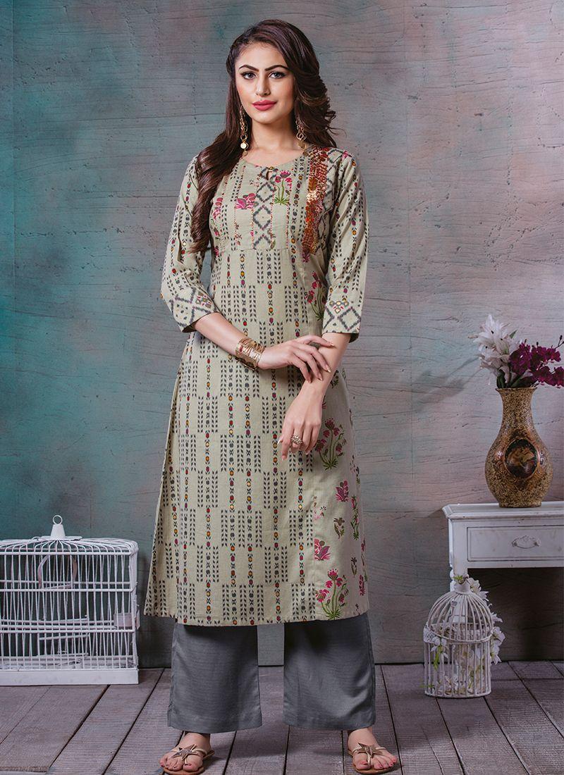Printed Sangeet Party Wear Kurti