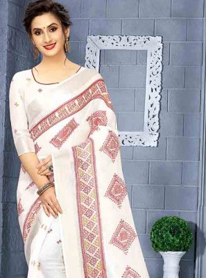 Printed Saree For Mehndi
