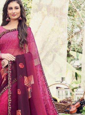 Printed Saree Printed Georgette in Multi Colour