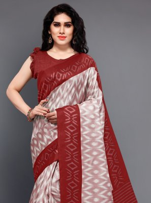 Printed Silk Trendy Saree