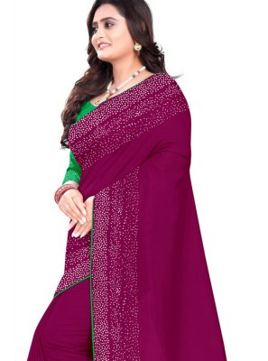 Purple Art Silk Designer Saree