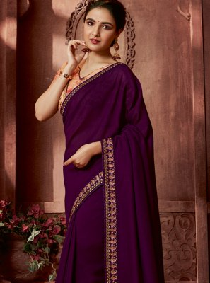 Purple Bollywood Saree