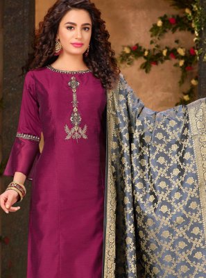 Purple Ceremonial Designer Salwar Suit
