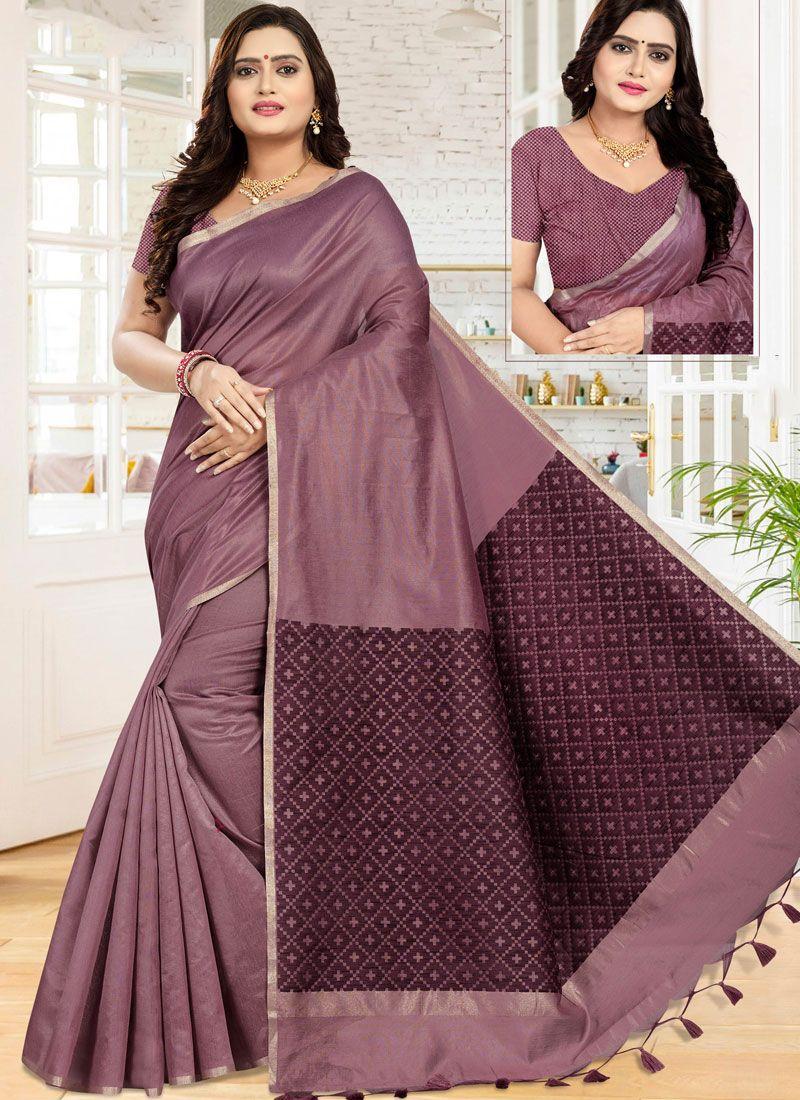 Purple Classic Saree