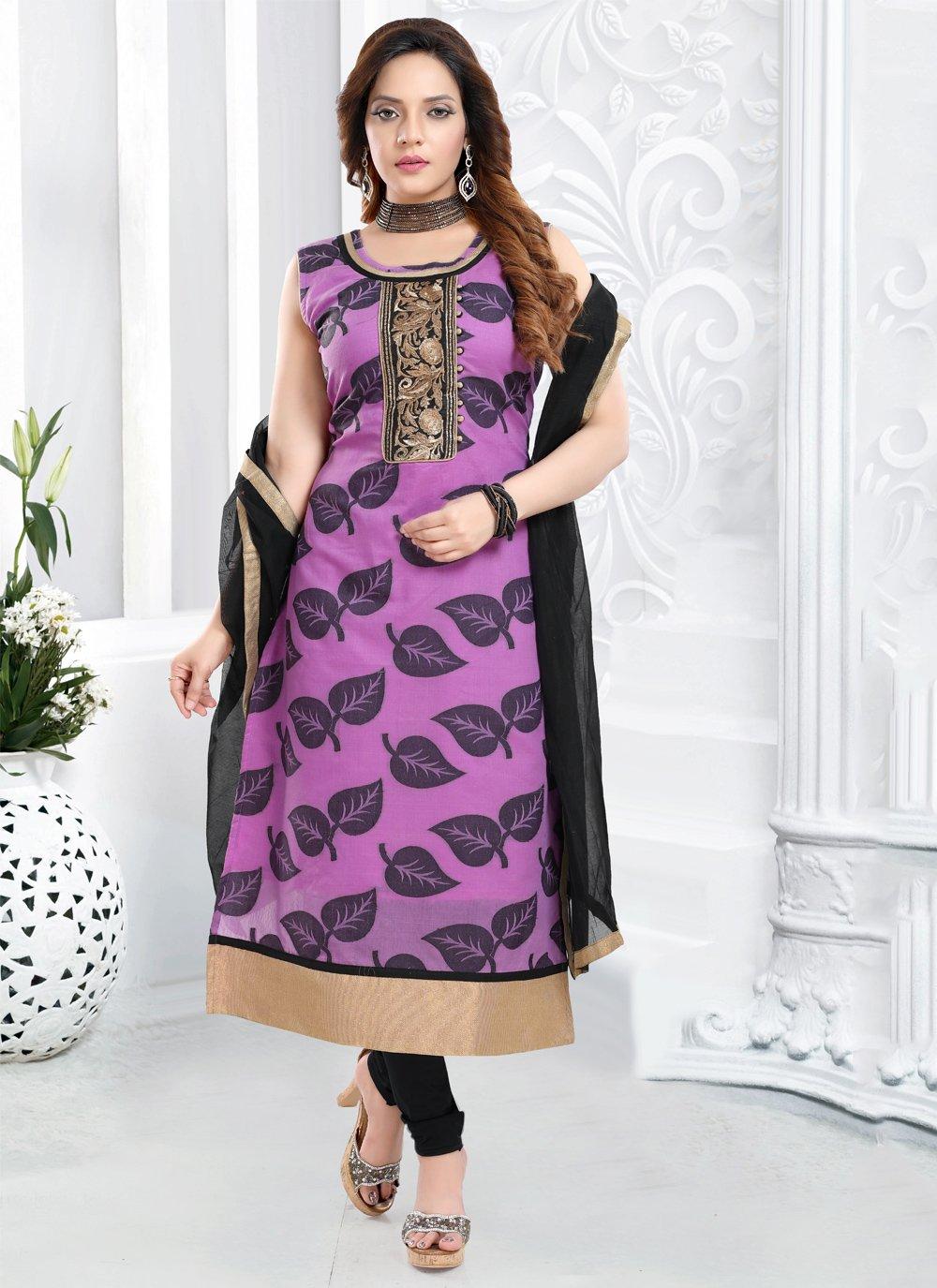 Purple Color Bollywood Salwar Kameez