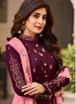 Purple Color Designer Patila Salwar Suit