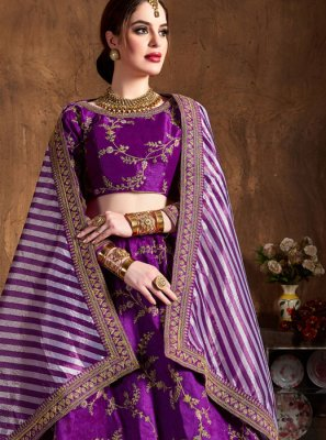 Purple Color Lehenga Choli