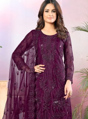 Purple Color Trendy Salwar Kameez