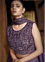 Purple Designer Lehenga Choli