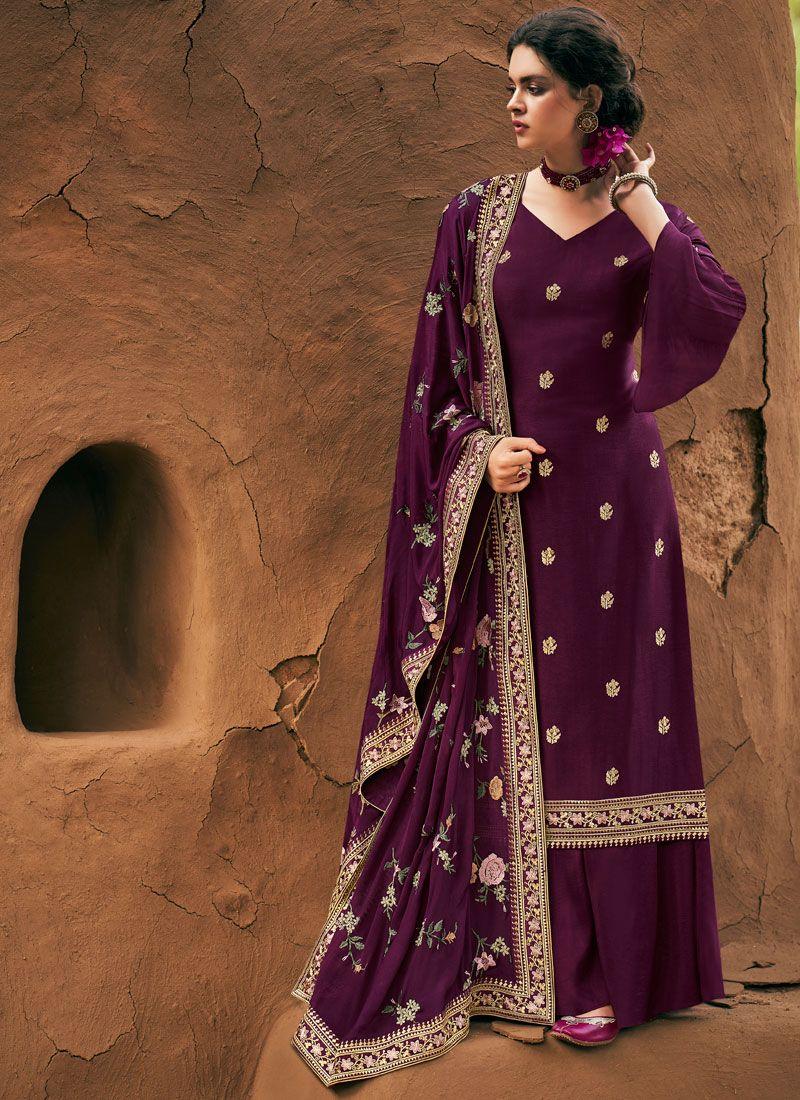 Purple Designer Salwar Kameez