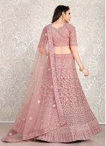 Purple Diamond Faux Crepe Lehenga Choli