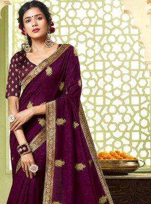 Purple Festival Designer Saree