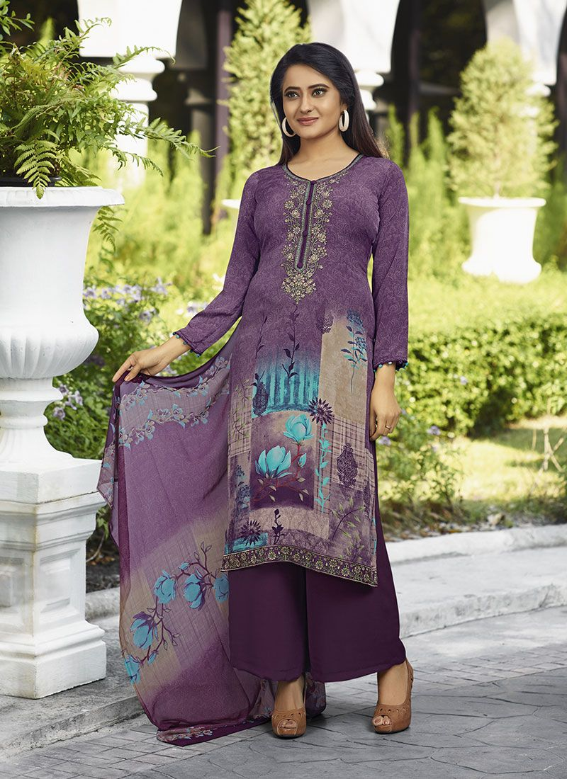 Purple Festival Salwar Suit