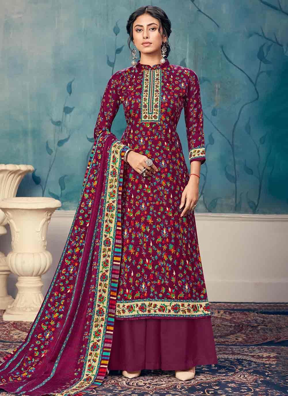 Purple Festival Trendy Salwar Suit