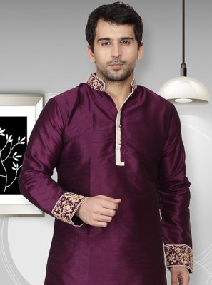 Purple Mehndi Kurta