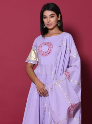 Purple Party Cotton Salwar Suit