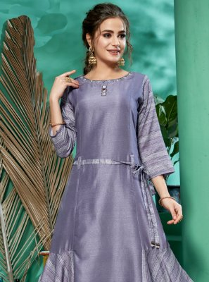 Purple Party Designer Kurti