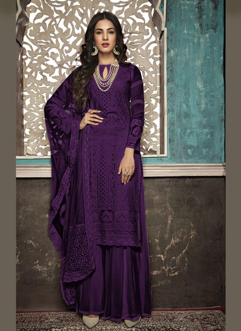 Purple Party Salwar Suit