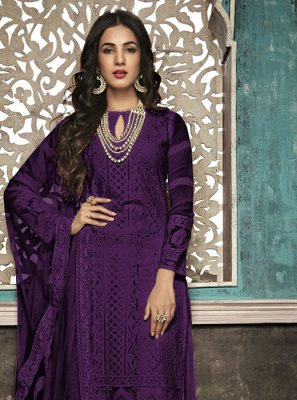Purple Party Salwar Suit