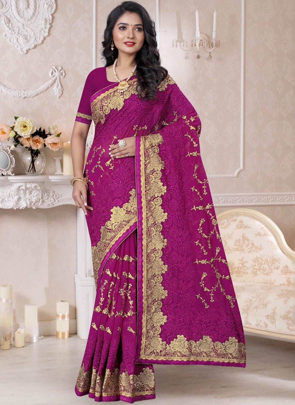 Purple Reception Classic Designer Saree