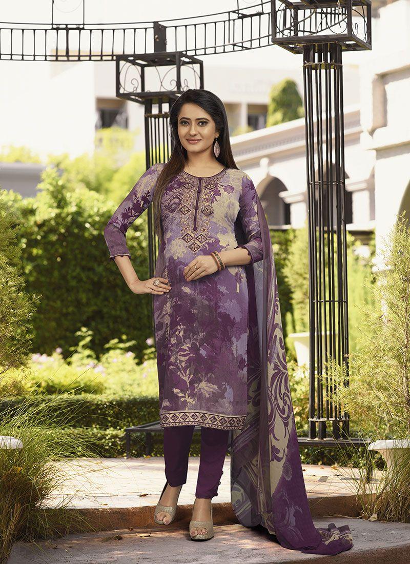 Purple Salwar Kameez