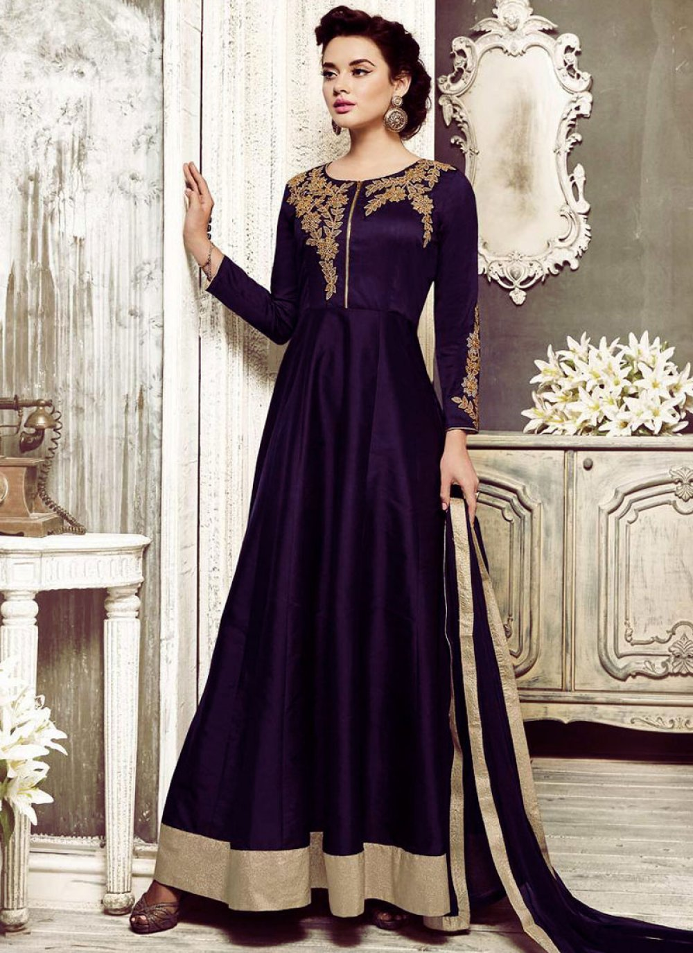 Purple Sangeet Salwar Suit