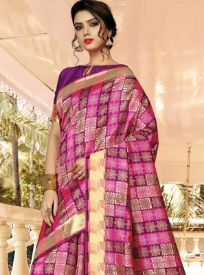 Purple Silk Festival Classic Saree