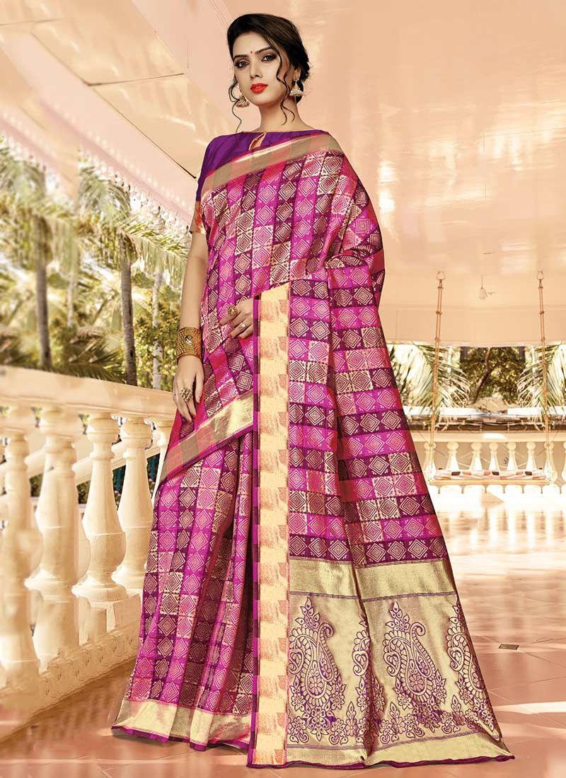 Purple Silk Festival Classic Saree