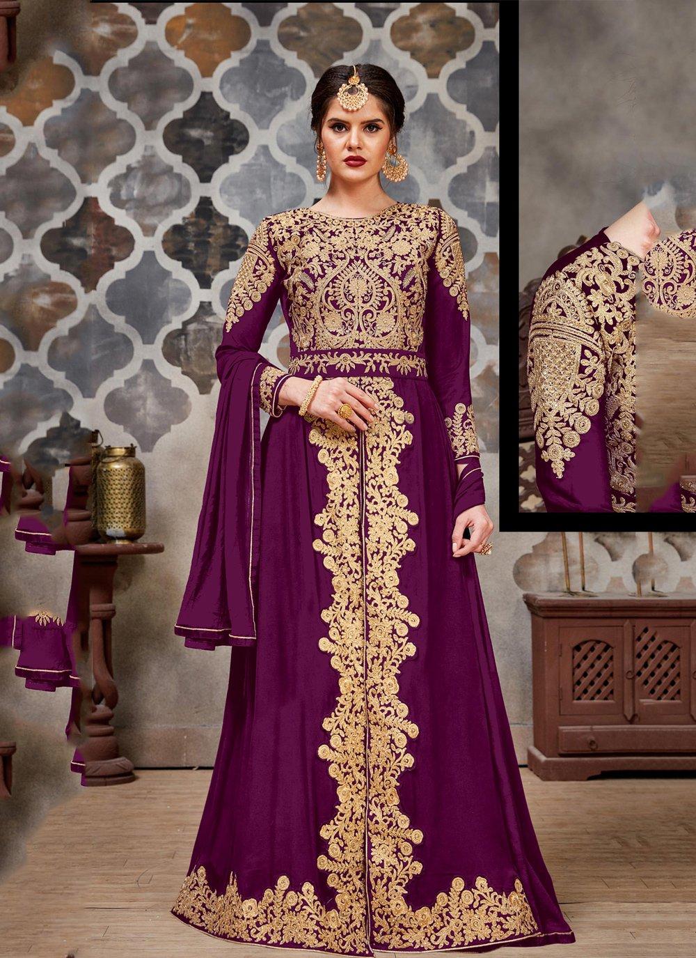 Purple Stone Trendy Salwar Suit