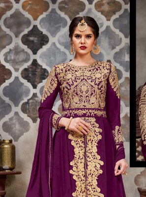 Purple Stone Trendy Salwar Suit