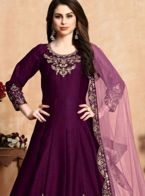 Purple Wedding Designer Salwar Suit
