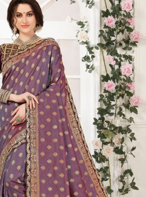 Purple Zari Party Classic Designer Saree