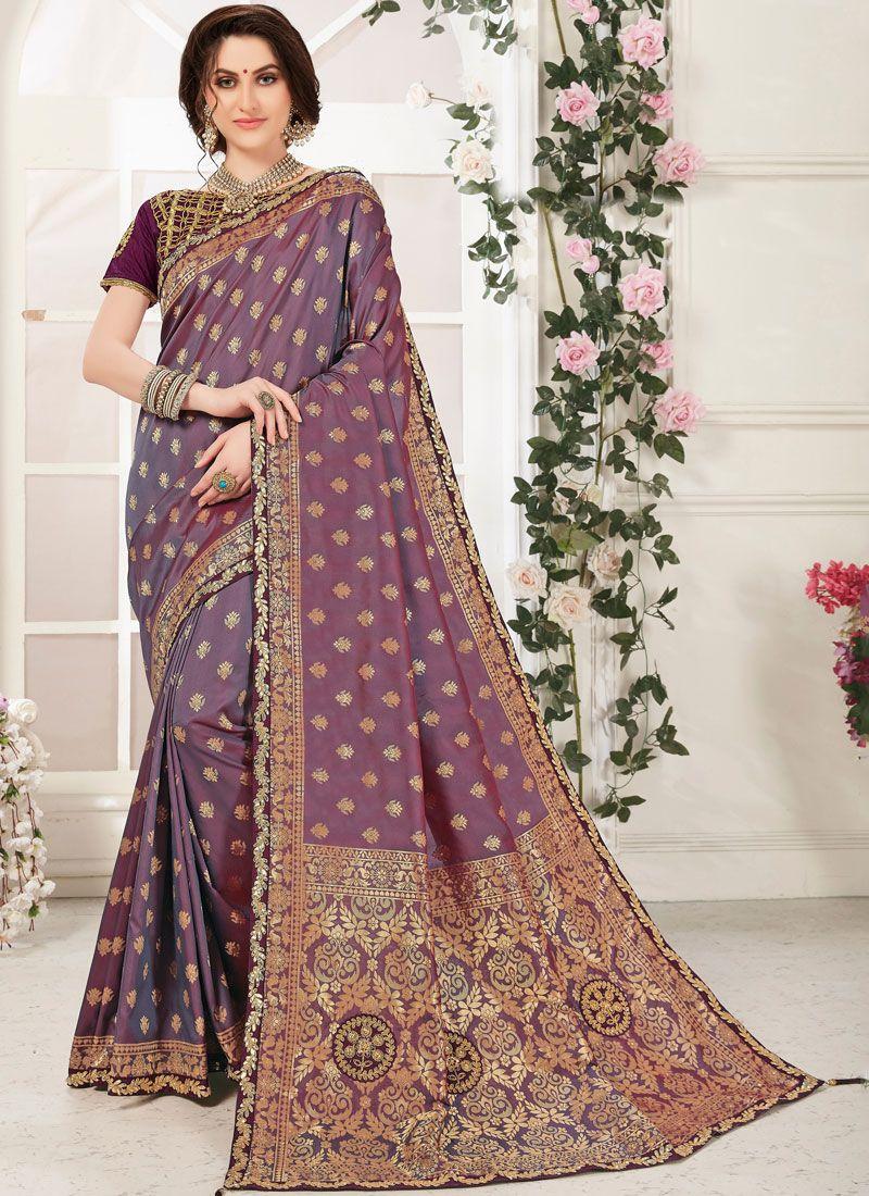 Purple Zari Party Classic Designer Saree