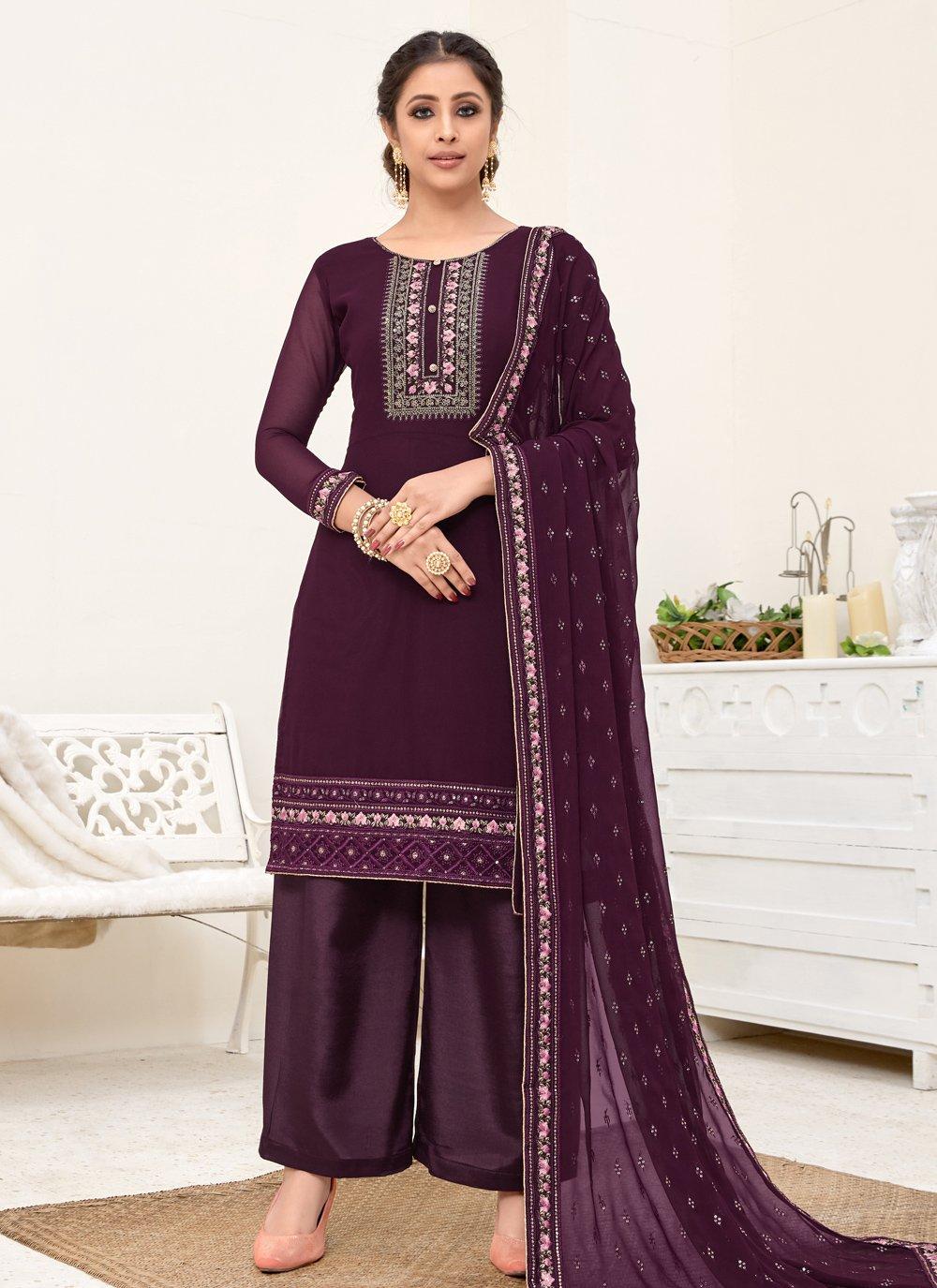 Purple Zari Salwar Kameez