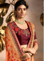 Rangoli Embroidered Classic Designer Saree