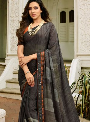 Rangoli Grey Printed Saree