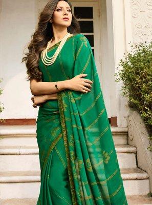Rangoli Printed Saree in Green