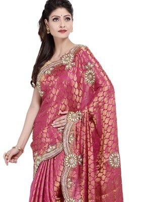 Rani Color Designer Saree