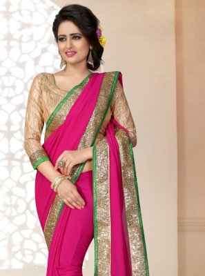 Rani Engagement Georgette Saree