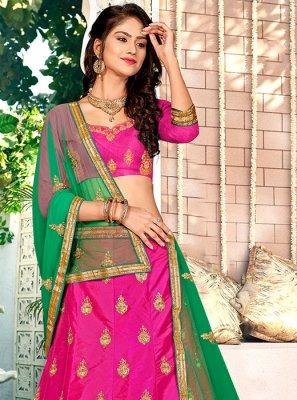 Rani Satin Silk Designer Lehenga Choli
