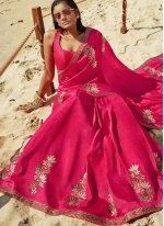 Rani Thread Art Silk Classic Designer Saree
