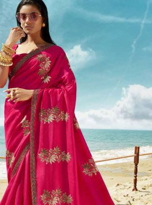 Rani Thread Art Silk Classic Designer Saree