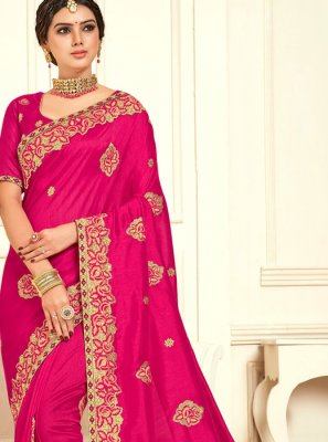 Raw Silk Embroidered Classic Designer Saree