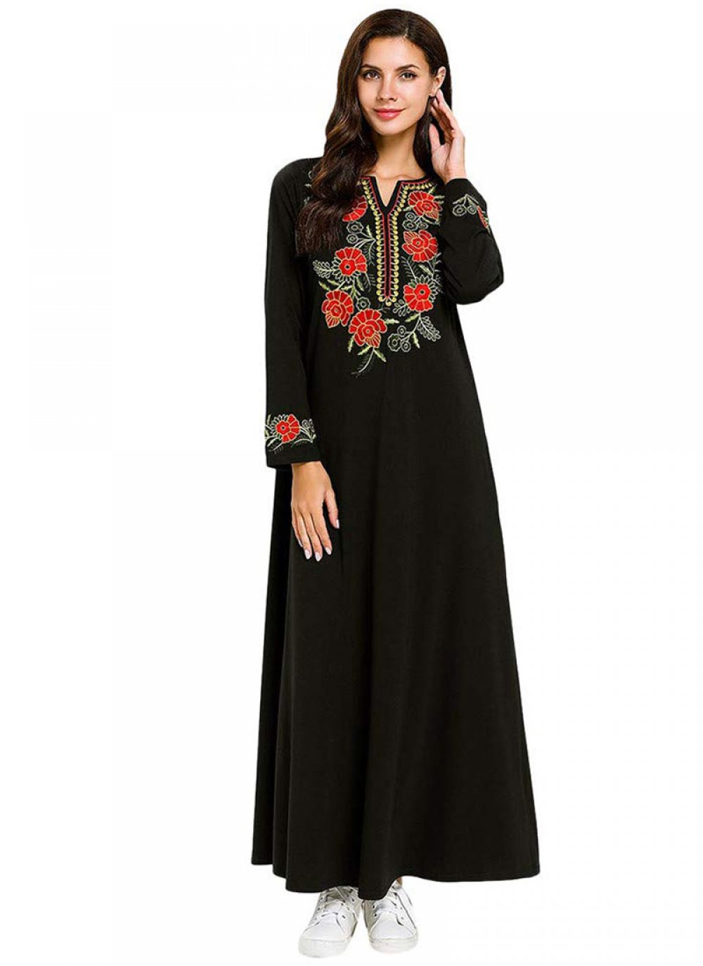 Rayon Black Embroidered Salwar Suit