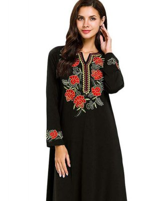 Rayon Black Embroidered Salwar Suit