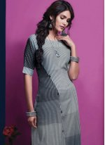 Rayon Casual Kurti in Grey