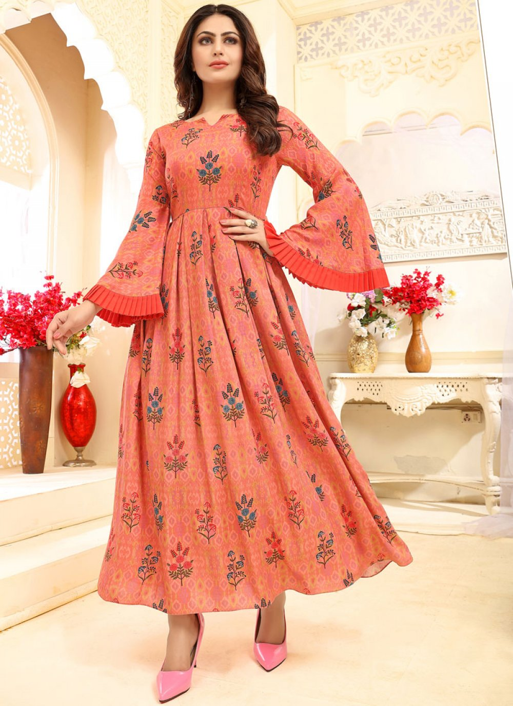 Rayon Festival Designer Gown